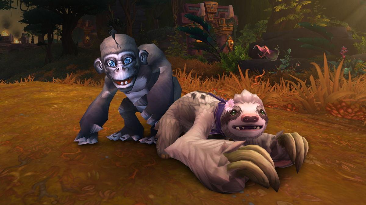 Bananas le singe et Daisy le paresseux, les deux mascottes caritatives