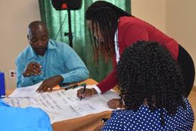 Stakeholders at the second national consultation in St. Kitts and Nevis