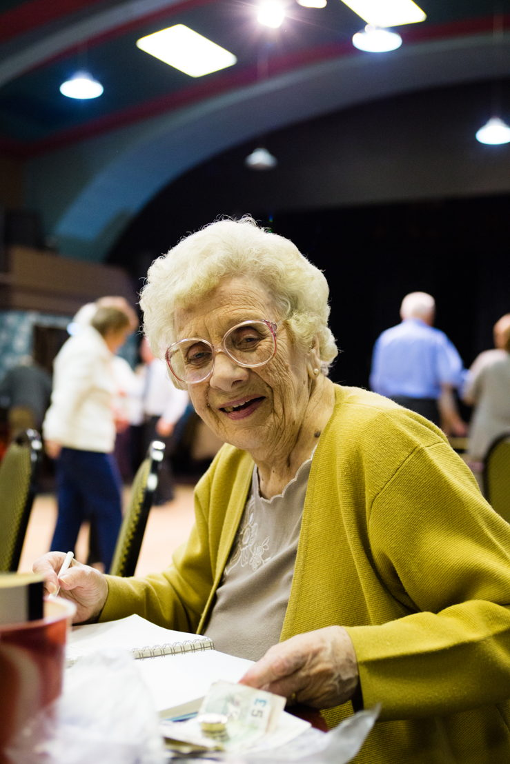 Eileen, a regular at the East Ham Working Men's Club