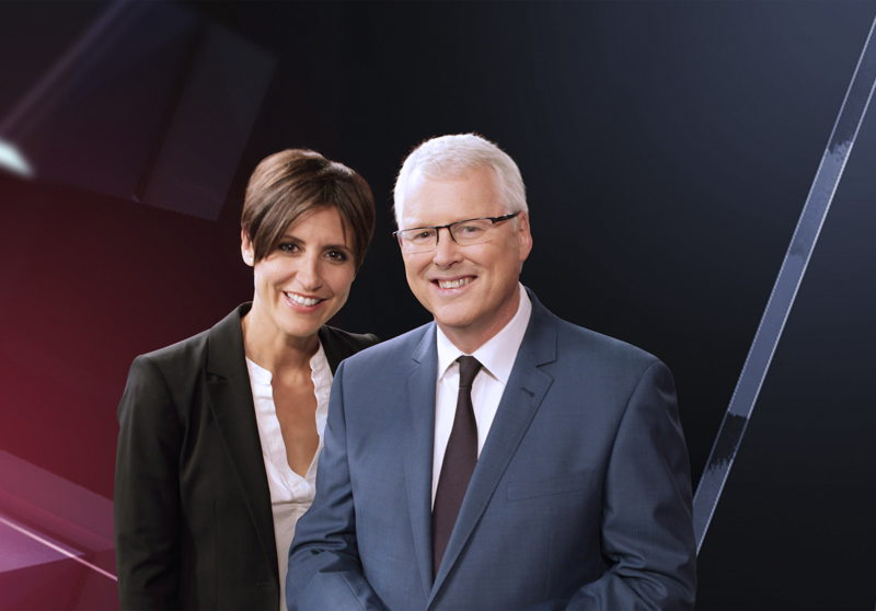 Emma Alberici & Tony Jones, hosts of Lateline