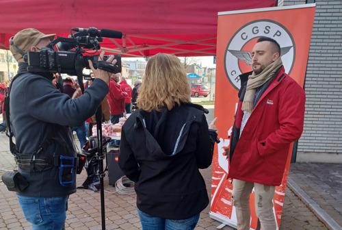 Action CGSP Cheminots Liège