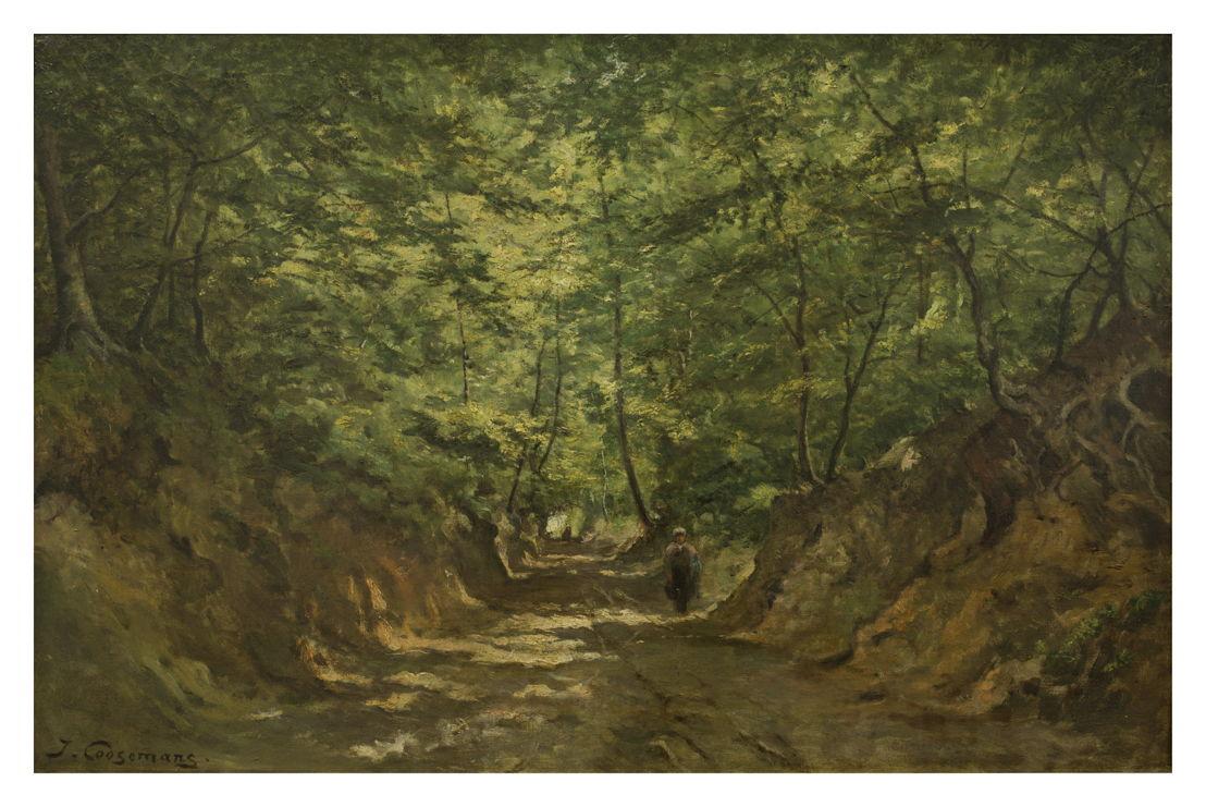 Joseph Théodore Coosemans, Le Chemin de Loups à Tervueren, vzw De Vrienden van de School van Tervuren © Isabelle Arthuis