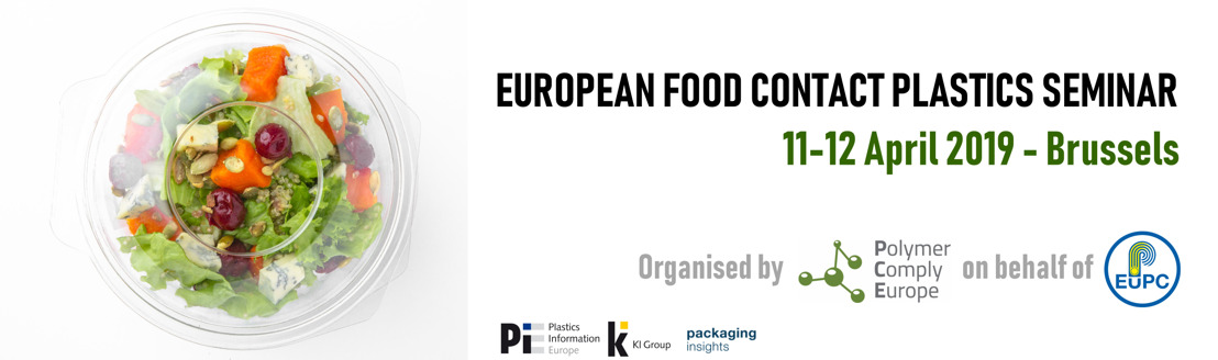 Only one month to go! - European Food Contact Plastics Seminar 2019