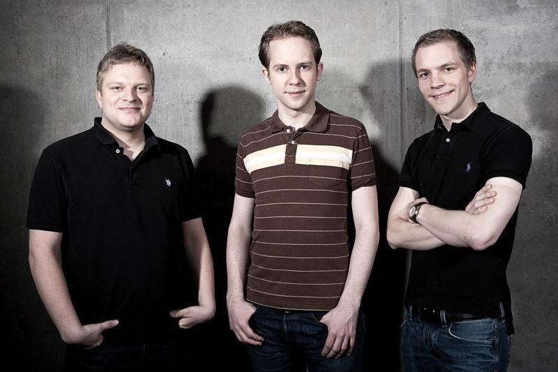 The Founders of InnoGames (fltr): Michael Zillmer, Hendrik Klindworth, Eike Klindworth