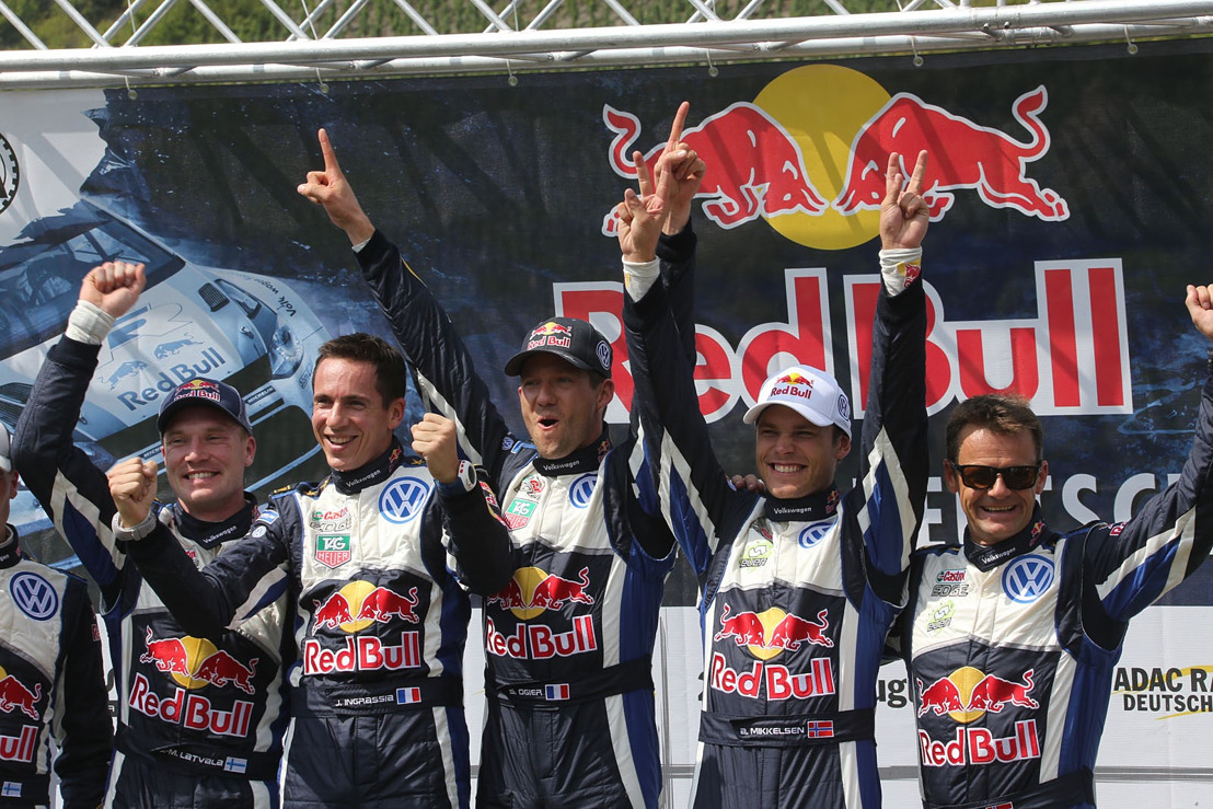 One-two-three for Ogier, Latvala and Mikkelsen at the Rally Germany