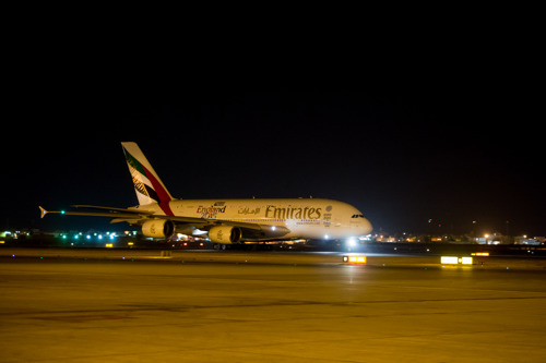 Emirates A380 Lands in Bahrain