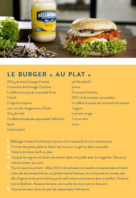 Recette Le Burger Au Plat