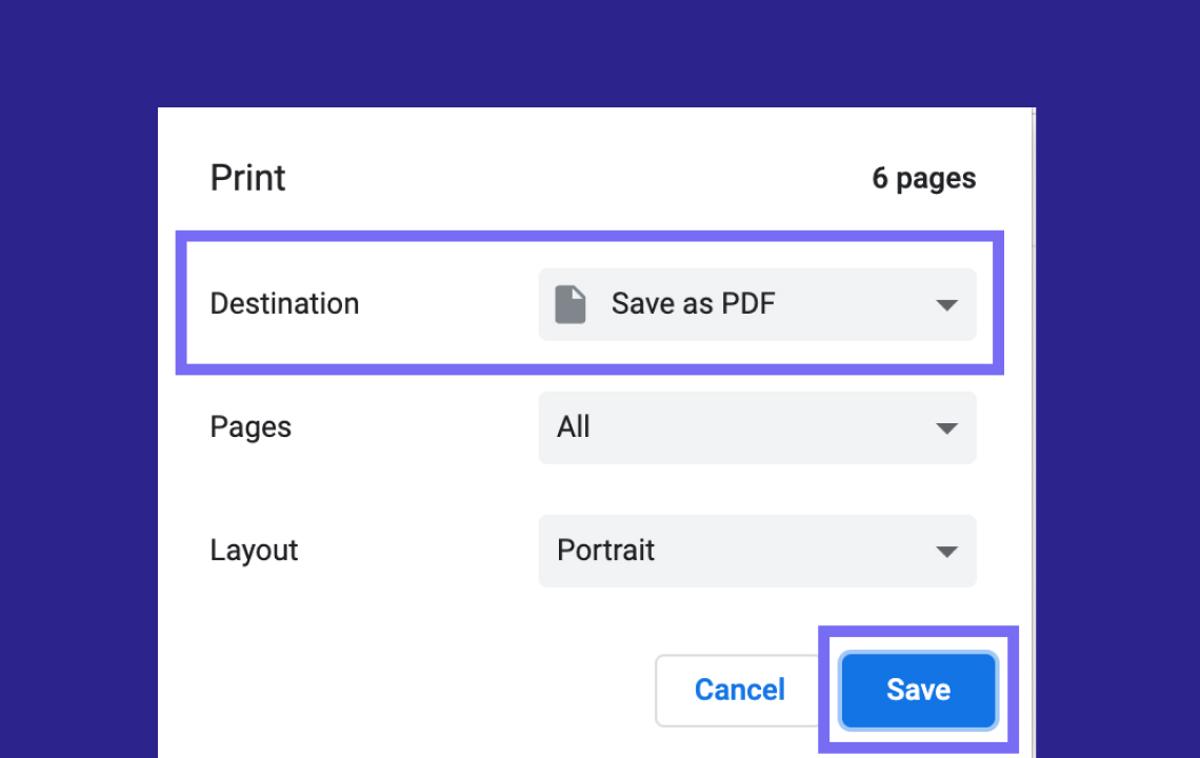 Help: Saving a Story as a PDF
