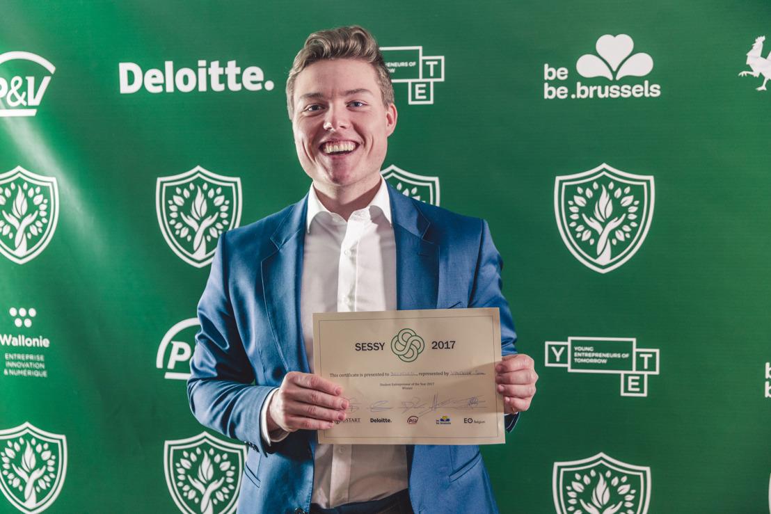 Sam Vynckier van start-up Becycled is Student-Ondernemer van het Jaar