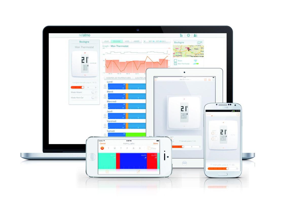En une fraction de seconde, l'utilisateur pilote son chauffage à distance depuis son smartphone, sa tablette ou son ordinateur.