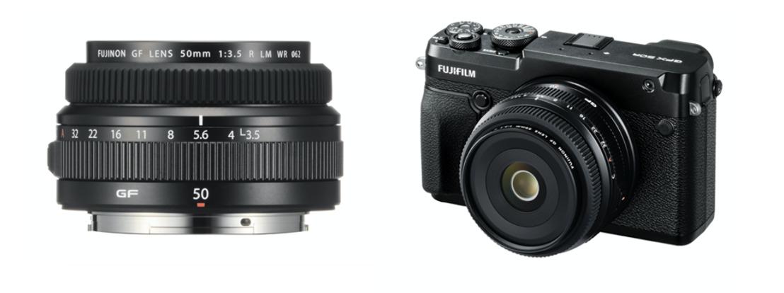 FUJIFILM lance l'objectif GF le plus compact du système grand format GFX : le « FUJINON GF50mmF3.5 R LM WR ».