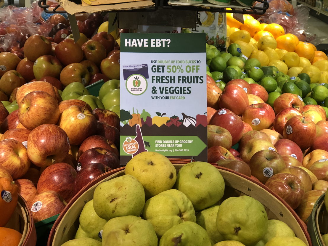 Enrollment in the Double Up Food Bucks program at the Hanover Co-op delivers 50 percent savings on fresh produce.