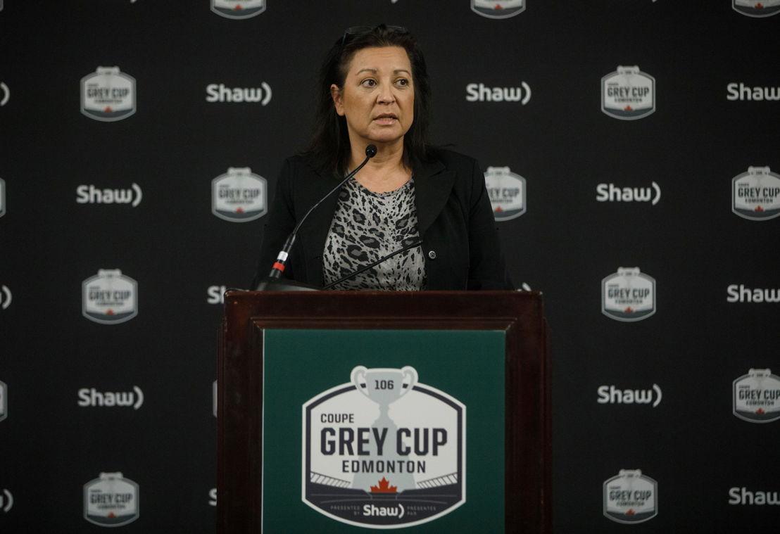 Gina Wilson, Deputy Minister, Status of Women Canada. Photo credit: Jason Franson/CFL.ca.
