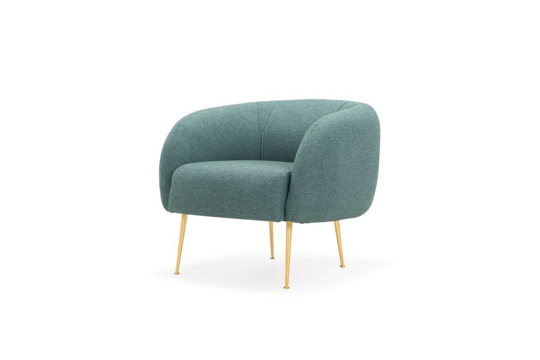 Allie Chair, Fabio Grey Green