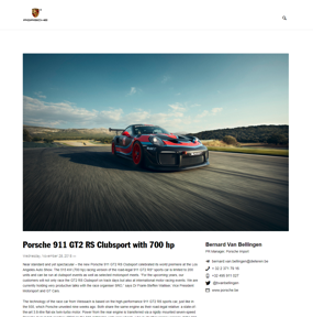 Porsche 911 GT2 RS Clubsport with 700 hp