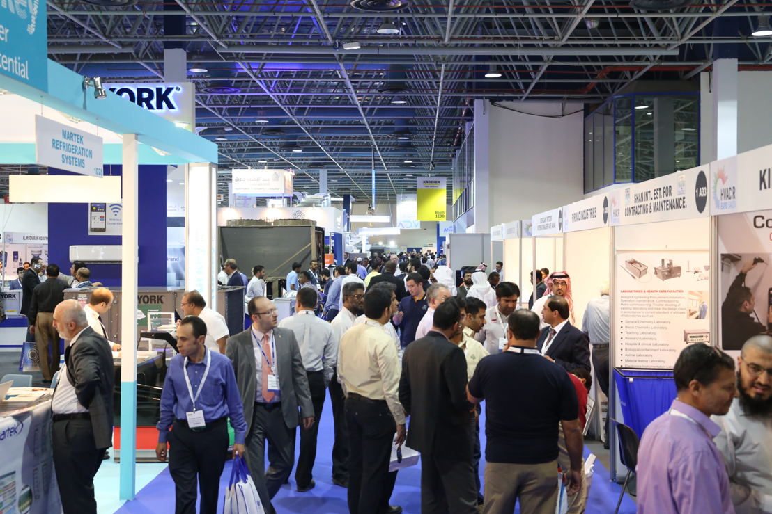 Crowds at at HVACR EXPO Saudi 2017