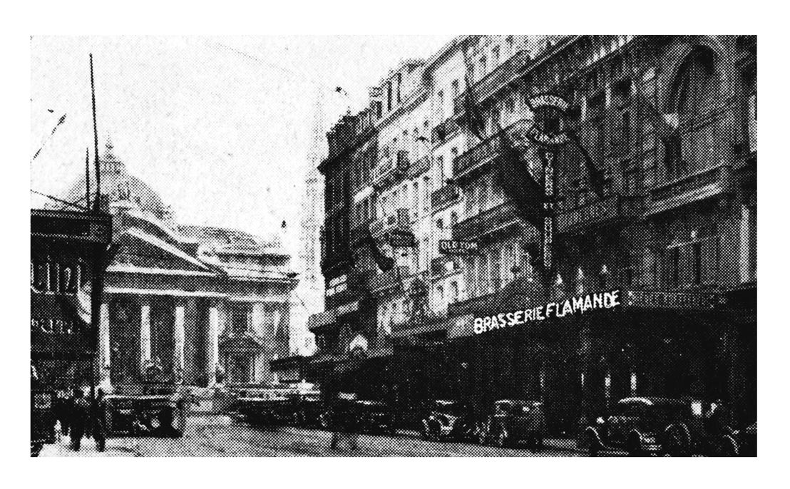 De Brasserie Flamande, jaren 1930. Collectie Eric Min
