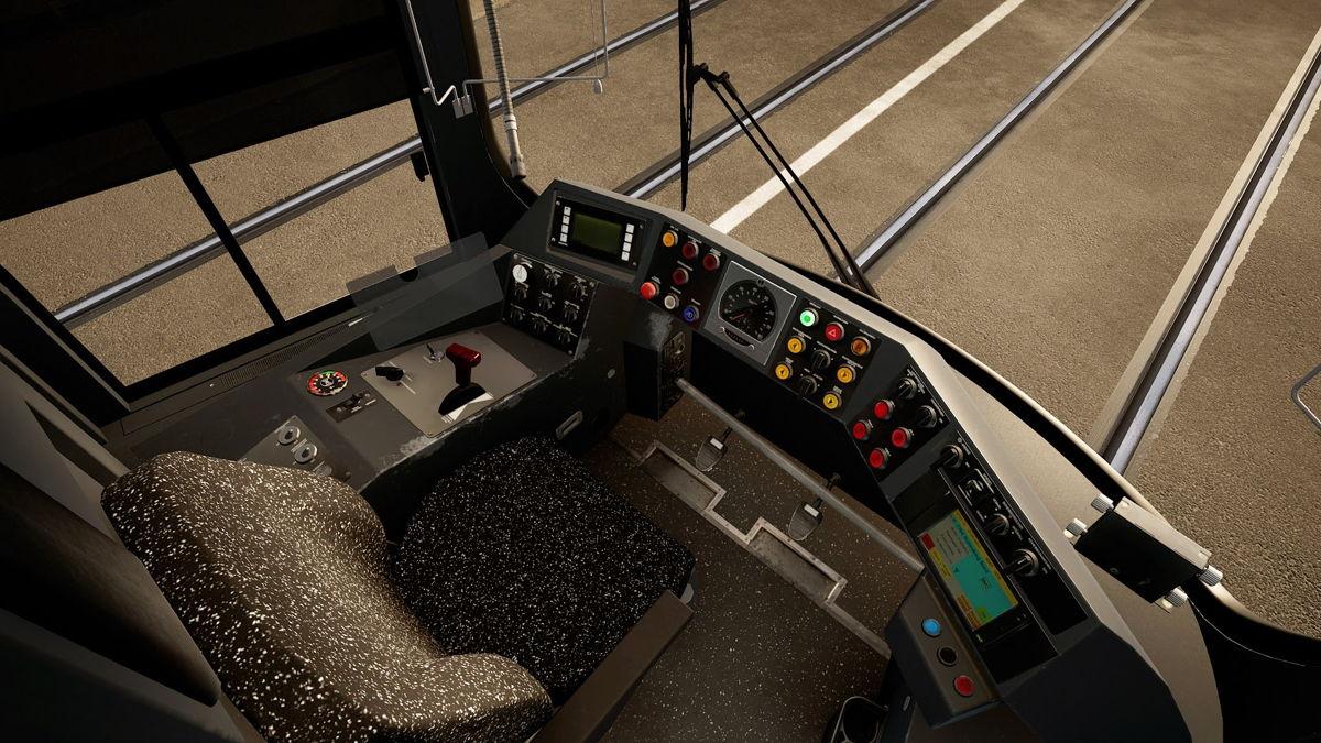 Cockpit und Steuerung der R2.2b Bahn sind absolut authentisch nachgebildet