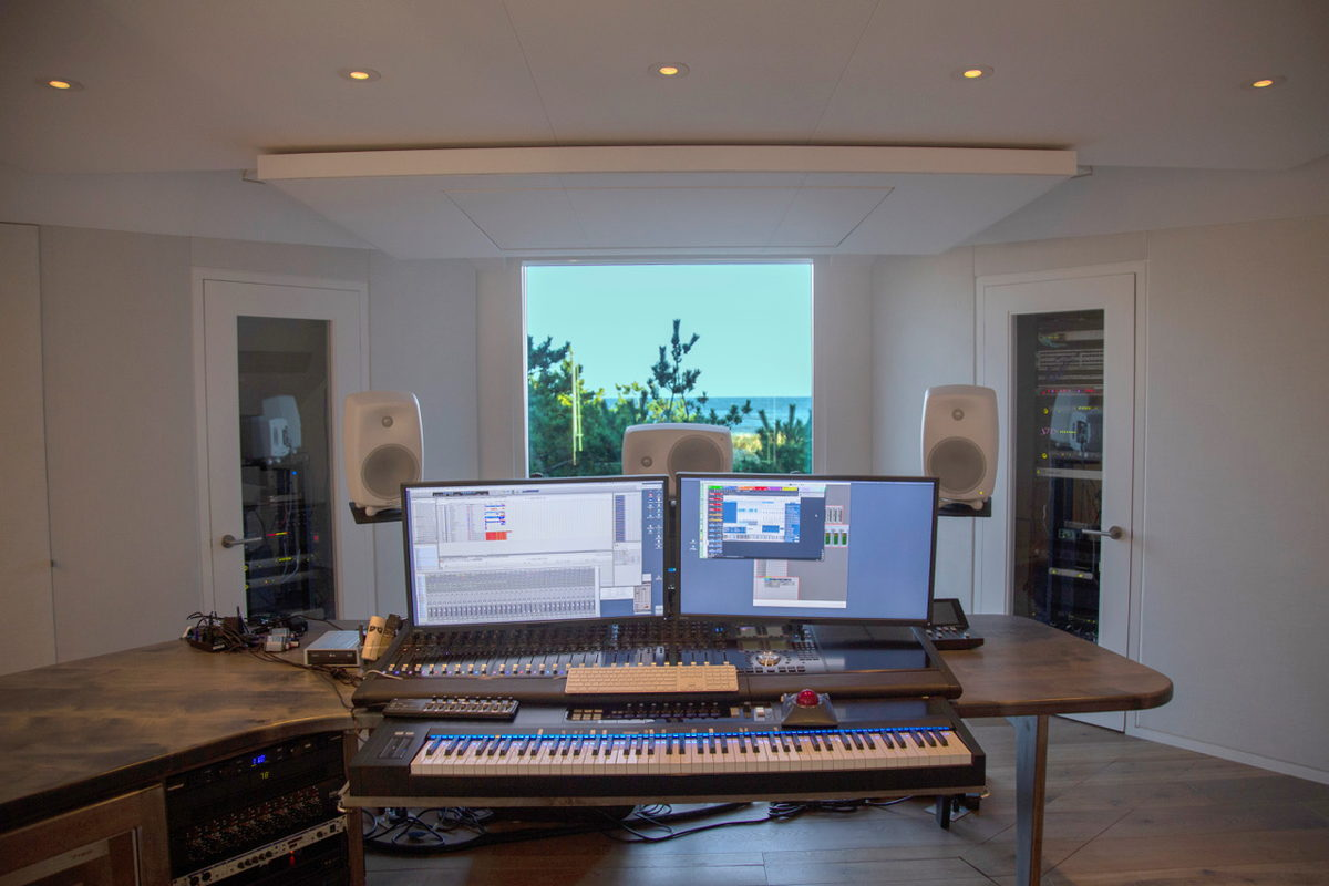 Ocean View from Carter Burwell 'The Body' Studio composing/mixing osition