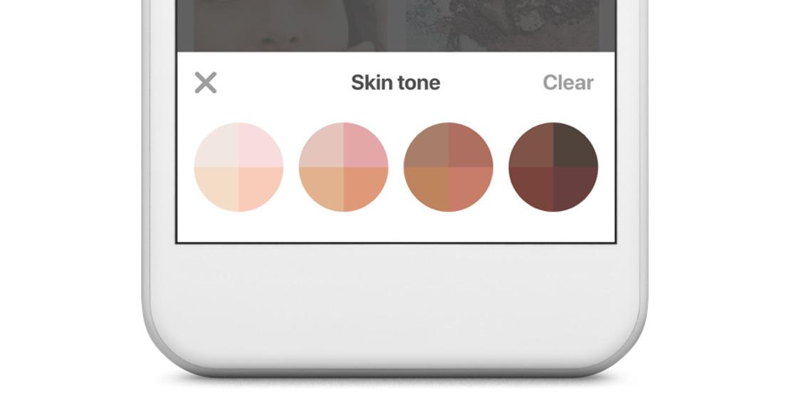 Ahora puedes filtrar tu búsqueda por tono de piel desde tu celular en Pinterest