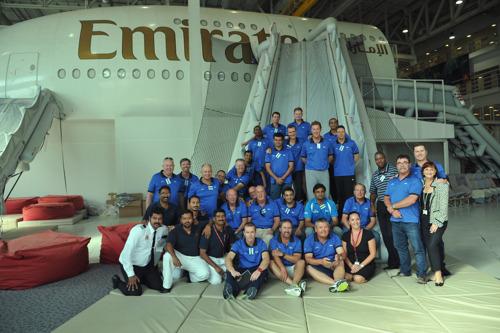 ICC Umpires have a successful 'innings' at Emirates Cabin Crew Training