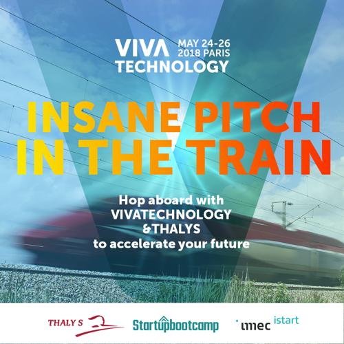 Op 24 mei zullen 50 Belgische en Nederlandse start-ups pitchen aan 300 km/u!