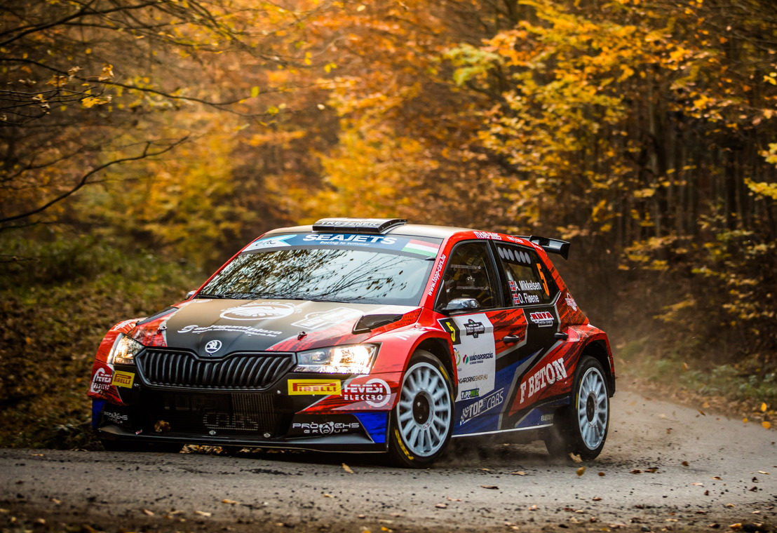 Rally Hungary: ŠKODA privateer Andreas Mikkelsen wins Rally Hungary – Oliver Solberg finishes fourth