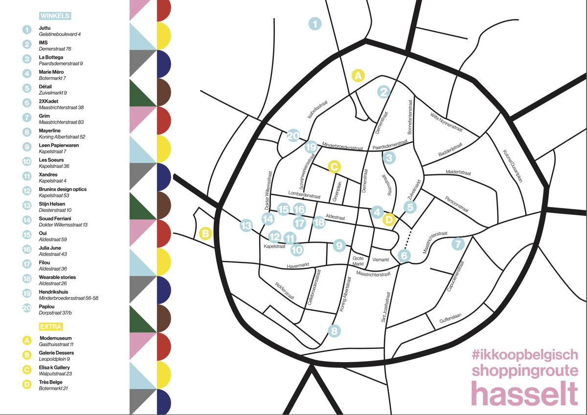 Ikkoopbelgisch Shoppingroute Hasselt