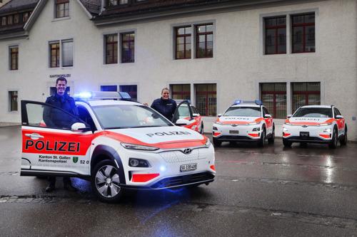 La polizia cantonale di San Gallo punta sulla All-New Hyundai KONA electric
