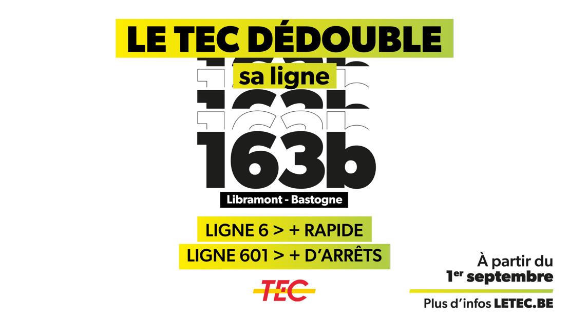 Le TEC dédouble sa ligne 163b.