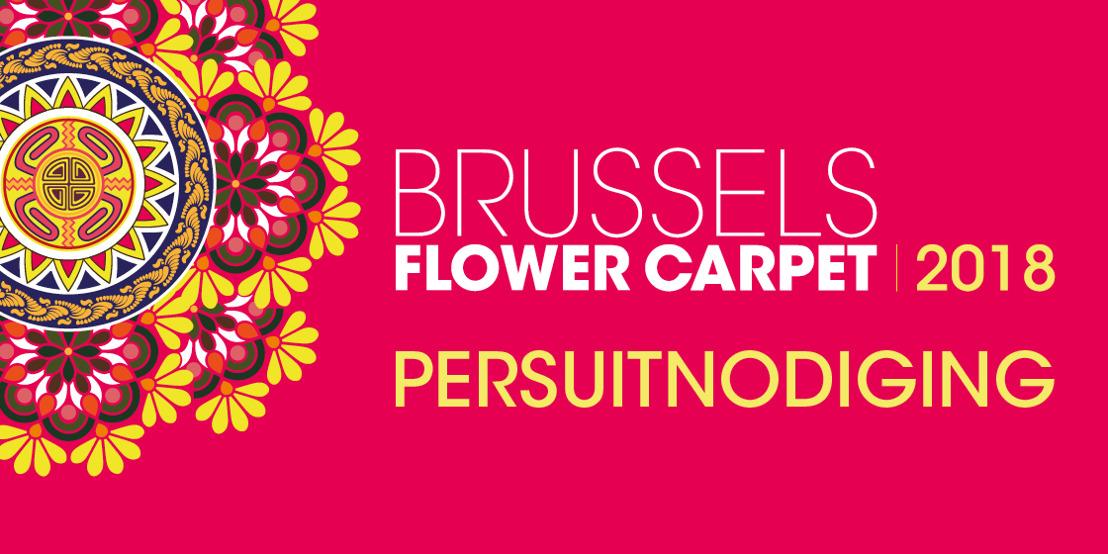 Persuitnodiging Brussels Flower Carpet 2018