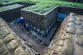 Memorial Museum Passchendaele 1917  Trench Reconstruction