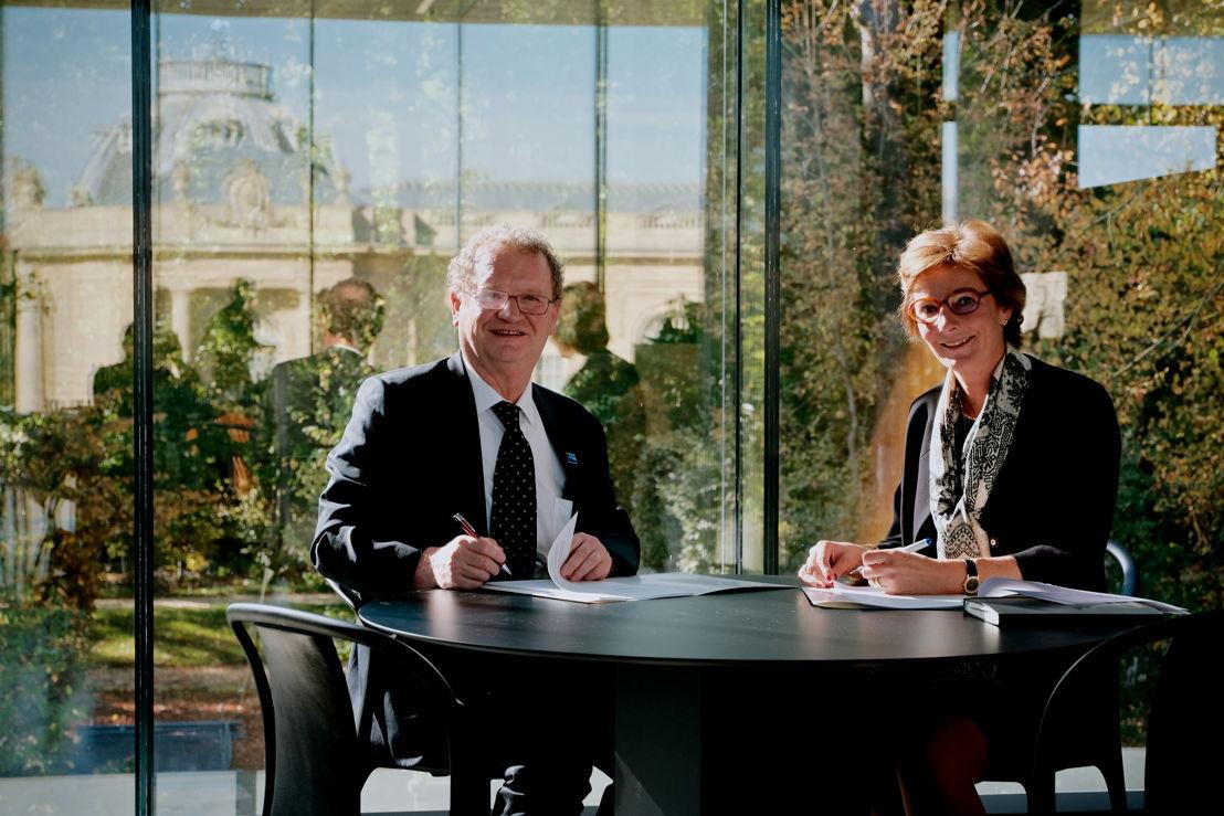 Annick Van Overstraeten (CEO) & Guido Gryseels (Directeur AfricaMuseum)