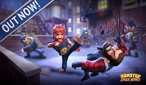 Chuck Norris green-lights release of his mobile action game, Nonstop Chuck Norris - OUT NOW!