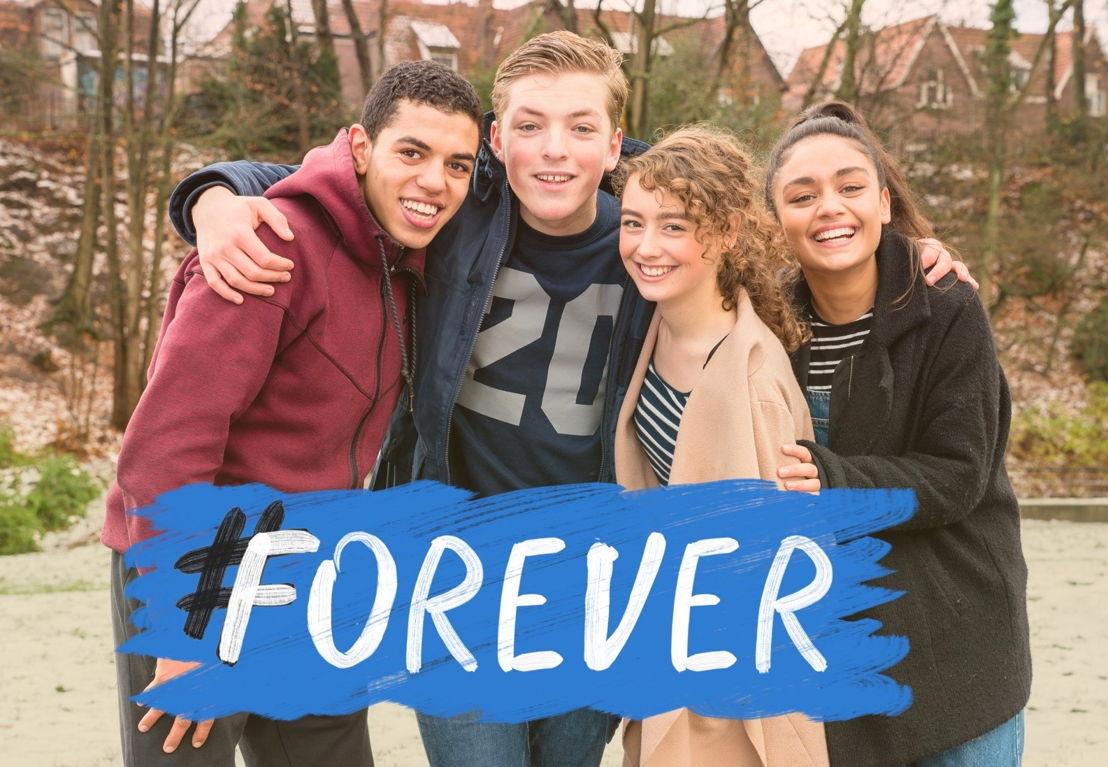 Nederlandse cast #FOREVER: Yassine Kji, Koen van der Molen, Manouk Pluis en Selin Akkulak
