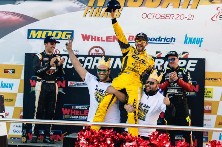 In 2017 and 2018 EuroNASCAR® champion, Alon Day drove to victory using MOOG® parts.