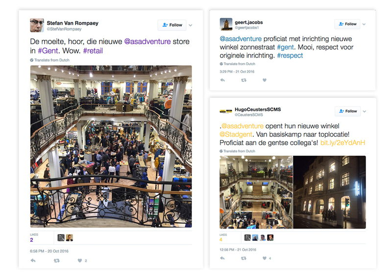 Opening new shop was a hot topic on Twitter