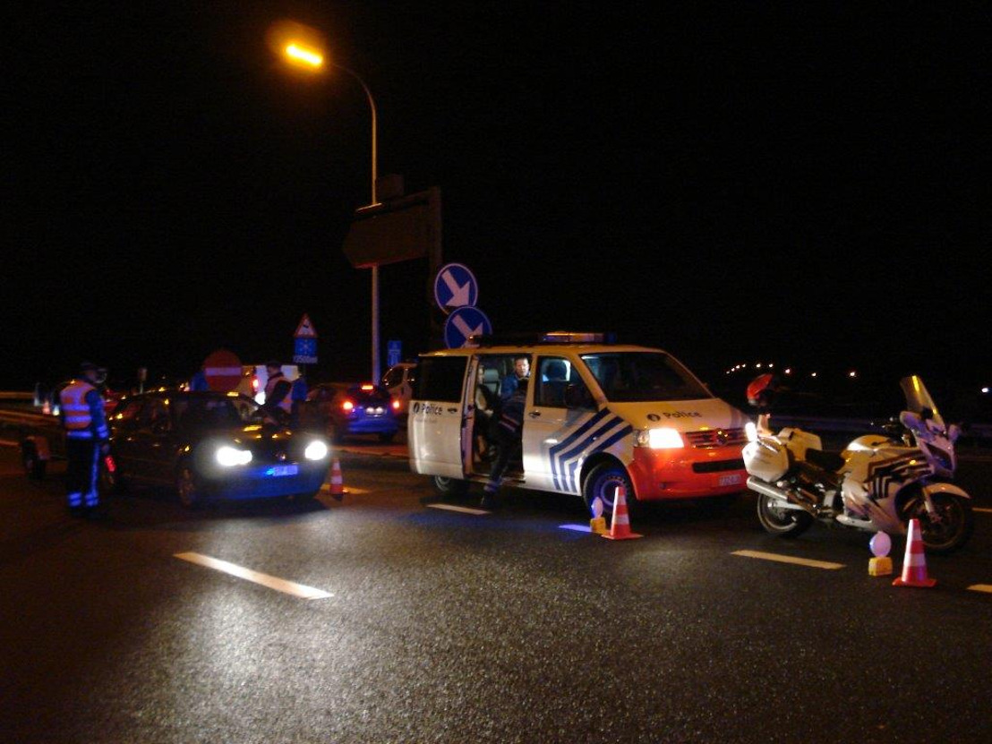 Politiecontroles op rijden onder invloed en op afleiding aan het stuur in Vlaams-Brabant