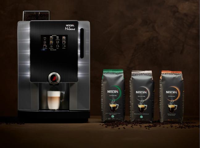 COMMUNIQUÉ DE PRESSE: Historique ! Nestlé Professional lance la première gamme de cafés en grains NESCAFÉ, vendue exclusivement aux professionnels.