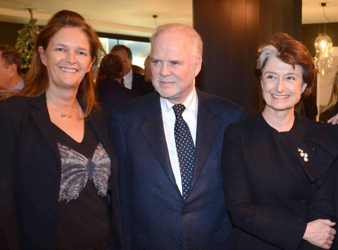 Mme Cédric de Vaucleroy, M. Patrick de Pauw, Mme Claude France Arnould, Ambassadeur de France en Belgique.
