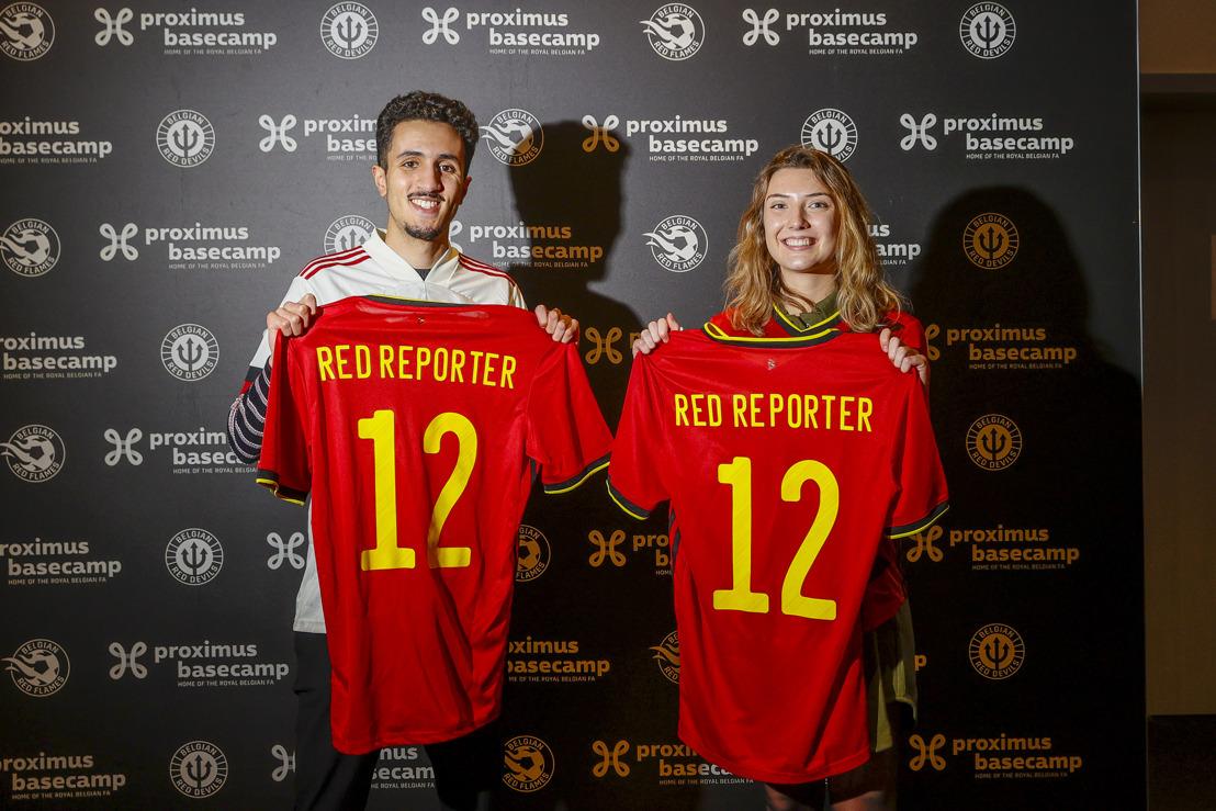 Janne Michels et Amine Serock sont les nouveaux Belgian Red Reporters