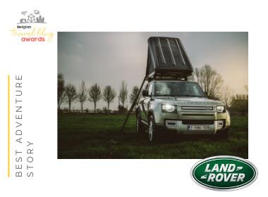 La tête dans les nuages : en route pour l'aventure avec le nouveau Land Rover Defender avec tente de toit
