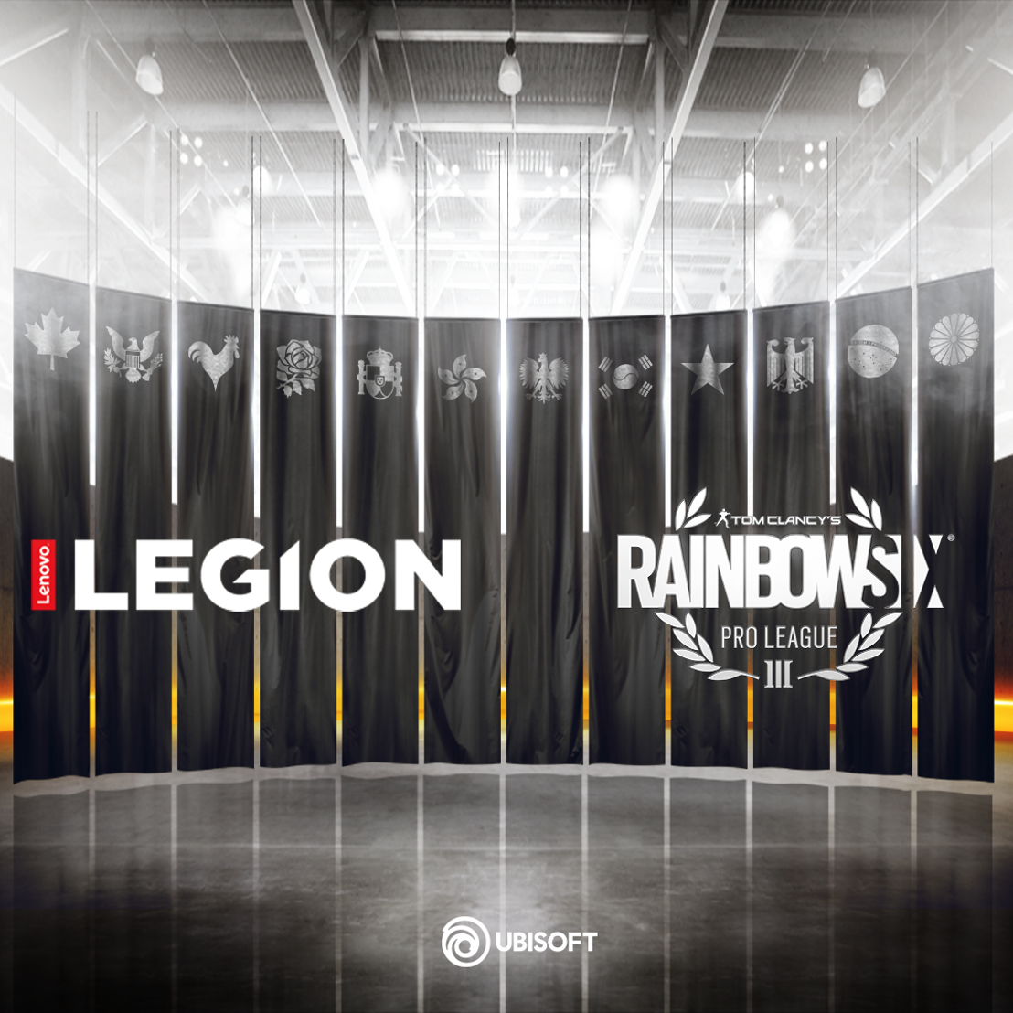 Lenovo Legion™ devient sponsor PC et écran officiel de de Tom Clancy's Rainbow Six® Siege Pro League and Majors