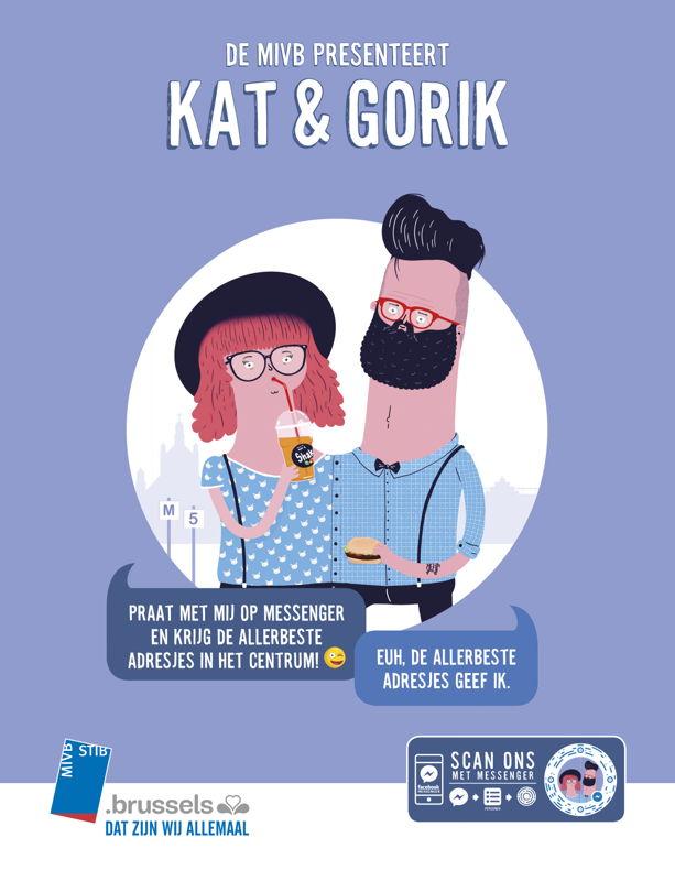 Kat & Gorik advertentie