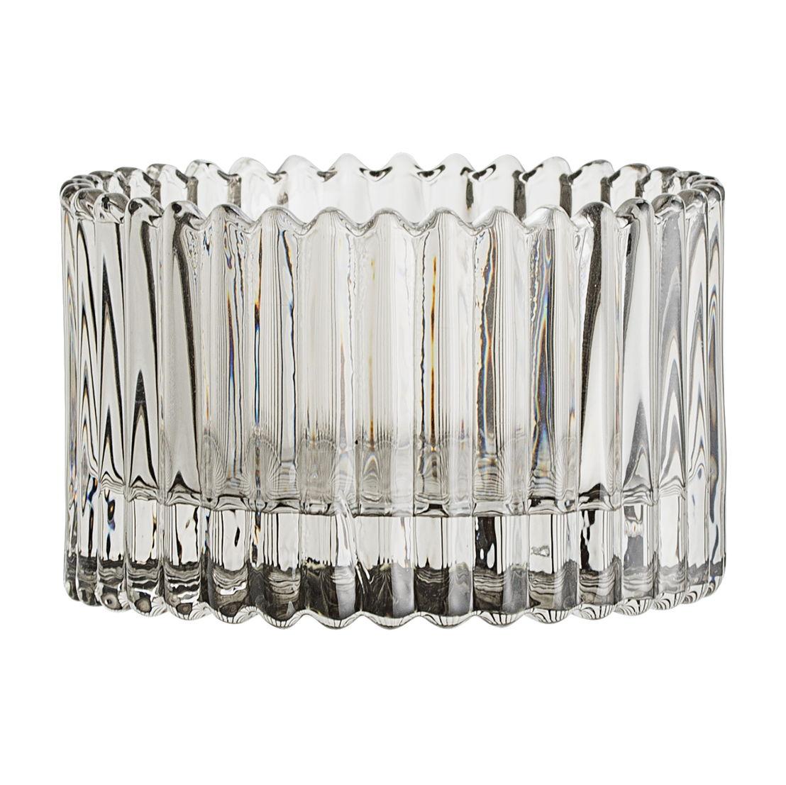 Bloomingville Waxinelichthouder grijs glas Laag - €8,50