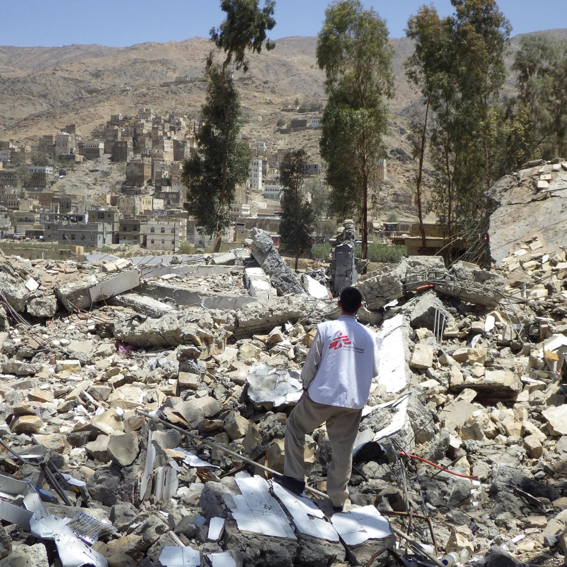 Haydan Hospital, March 2016, after 5 months of air strikes. Photographer: Atsuhiko Ochiai
