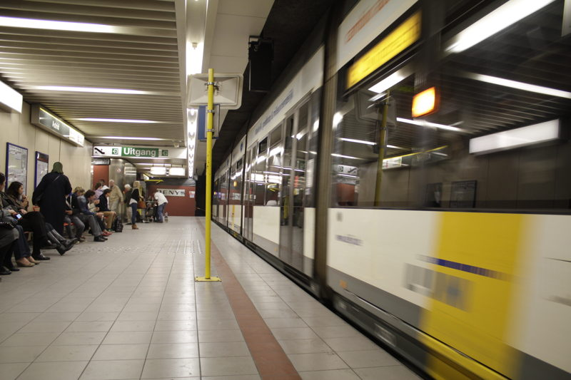 Premetrostation in Antwerpen