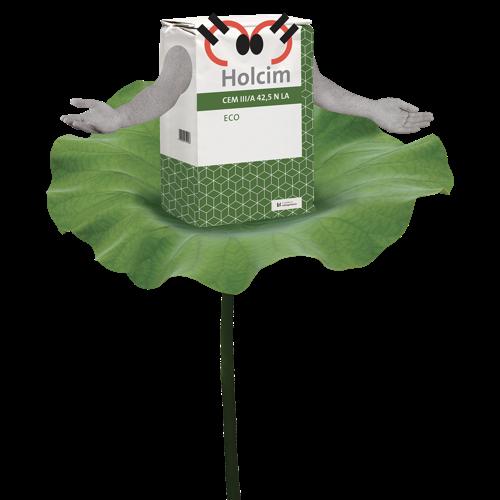 Het Eco-cement van Holcim nu ook verkrijgbaar in zakken