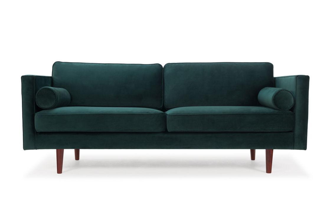 Harper - Velour Dark Green.