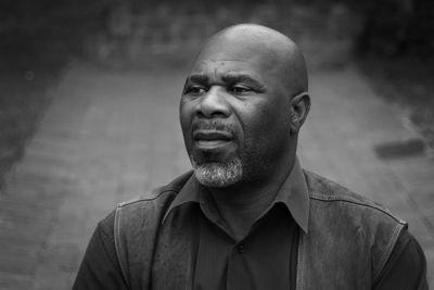 Nhlanhla Mkhwanazi in a Man and a Dog - pic by Mark Baldwin